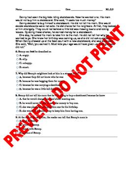 2nd Grade CCSS Story Elements Assessment Bundle