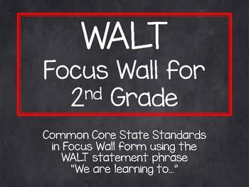 2nd Grade CCSS WALT Statement Focus Wall-Rainbow