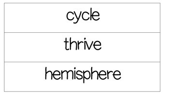 2nd Grade CKLA Domain 6 Vocabulary Word Wall Cards