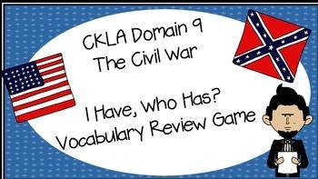 2nd Grade CKLA Domain 9- I Have, Who Has? Vocabulary