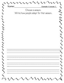 2nd Grade CKLA Journal - Domain 6 Life Cycles