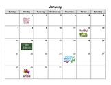 2nd Grade Calendar Task Cards