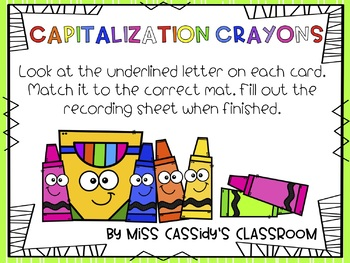 2nd Grade Capitalization ELA/Literacy Center