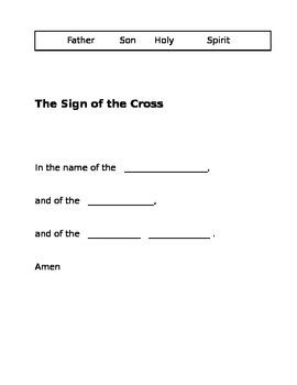 2nd Grade Catholic Prayers - fill in the blank