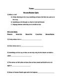 2nd Grade Catholic Reconciliation Quiz