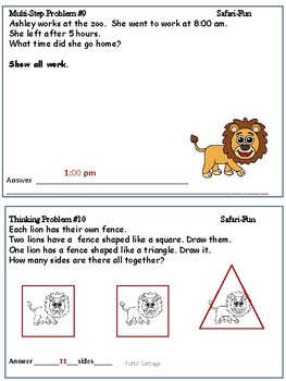 2nd Grade Challenging Word Problems