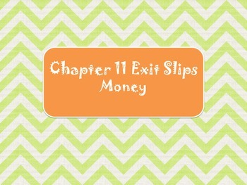 2nd Grade Chapter 11 Math in Focus Daily Exit Slips