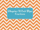 2nd Grade Chapter 12 Math in Focus Daily Exit Slips Fractions