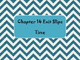 2nd Grade Chapter 14 Math in Focus Daily Exit Slips