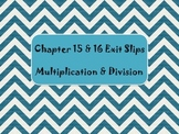 2nd Grade Chapter 15-16 Math in Focus Daily Exit Slips