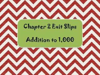 2nd Grade Chapter 2 Math in Focus Daily Exit Slips