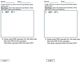 2nd Grade Chapter 3 Math in Focus Daily Exit Slips