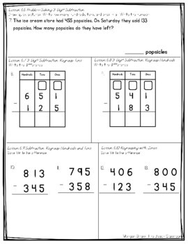 2nd Grade Chapter 6 GO MATH Pre Test, Study Guide and Test
