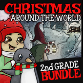 2nd Grade Christmas Around the World ☆ Second Grade Christmas Center Bundle