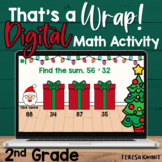 2nd Grade Christmas Digital Math Game Adding & Subtracting | Distance Learning