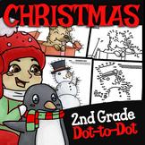 2nd Grade Christmas Dot to Dot ★ Christmas Skip Counting ★ Grade 2 Christmas