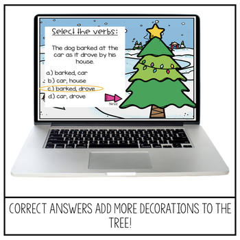 2nd Grade Christmas Grammar Review | Decorate A Tree