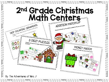 2nd Grade Christmas Math Centers