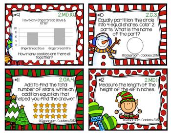2nd Grade Christmas Math (Common Core Aligned)