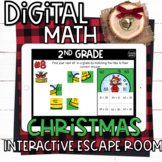 2nd Grade Christmas Math Digital Escape Room Breakout | Distance Learning