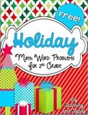 2nd Grade Holiday Problem Solving Tasks (FREEBIE)