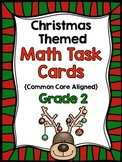 2nd Grade Christmas Math Task Cards {Common Core Aligned- All 4 domains!}