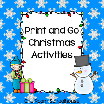 2nd Grade Christmas Print and Go