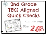 2nd Grade Classify 3D Shapes Quick Check 2.8B