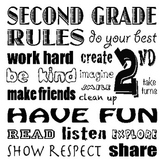 2nd Grade Classroom Rules Poster