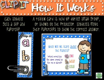 2nd Grade Clip-It Phonics Review: SF Unit 4