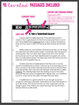 2nd Grade Close Reading - Informational AND Literature BUNDLE (97 passages)