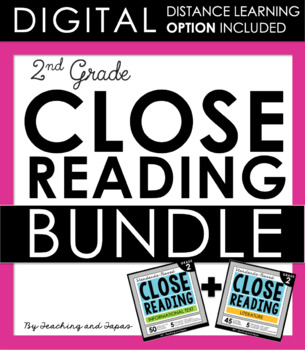2nd Grade Close Reading - Informational & Literature BUNDLE (DISTANCE LEARNING)