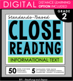 2nd Grade Close Reading - Informational Text (with DISTANCE LEARNING OPTION)