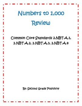 2nd Grade Common Core 2.NBT,A.1-4: 3-Digit Number Review