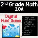 2nd Grade Common Core 2.OA  DIGITAL Hunt Game for Google Slides!