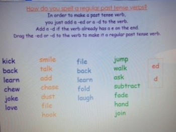 2nd Grade Common Core 2.L.1d Irregular Past Tense Verbs SMARTBoard file