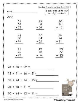 2nd Grade Common Core 2.NBT.5 & 2.NBT.6 Math Assessments/Practice