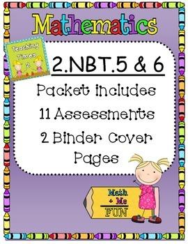 2nd Grade Common Core 2.NBT.5 & 2.NBT.6 Math Assessments/Practice