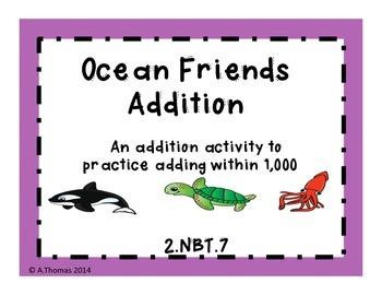 2nd Grade Ocean Friends Addition