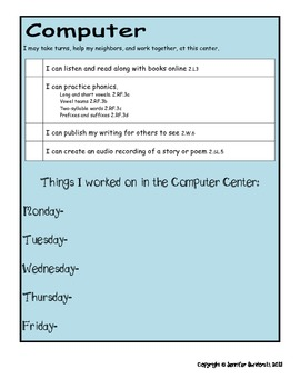Literacy Centers (NOW EDITABLE!) - Common Core Aligned (Grade 2)