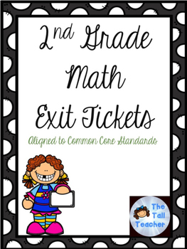 2nd Grade Common Core Aligned Math Exit Tickets