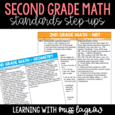 2nd Grade Common Core CCSS Math Standards Step-Ups Referen