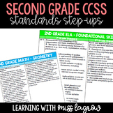 2nd Grade Common Core CCSS Standards Step-Ups Reference Checklist Sheets