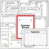 2nd Grade Common Core Calendar Journal