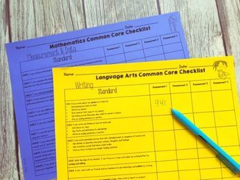 2nd Grade Common Core Checklists
