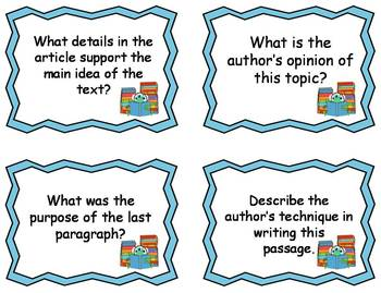 2nd Grade Common Core Comprehension Questions