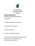 2nd Grade Common Core Conventions of Standard English Checklist