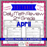 Math Morning Work 2nd Grade April Editable