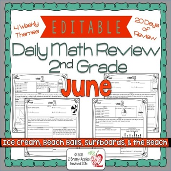 Math Morning Work 2nd Grade June