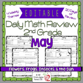 Math Morning Work 2nd Grade May Editable